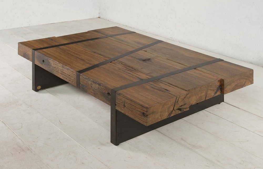 Old Wooden Coffee Table