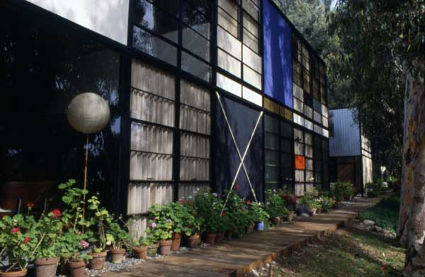 the Eames House, also known as Case Study House #8